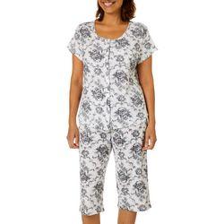 Karen Neuburger Womens Toile Print Capris Pajama Set