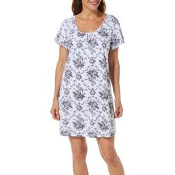 Karen Neuburger Womens Chateau Rose Short Sleeve Nightgown