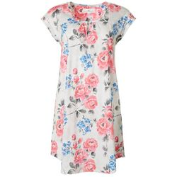 Womens Floral Cutout Nightgown