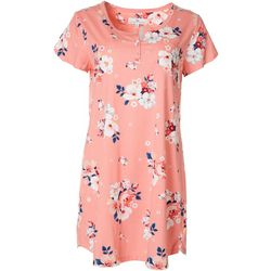 Karen Neuburger Womens Floral Peach Nightgown
