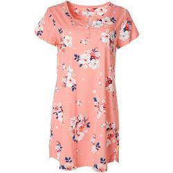 Womens Floral Peach Nightgown