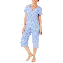 Karen Neuburger Womens Ditsy Floral Capris Pajama Set