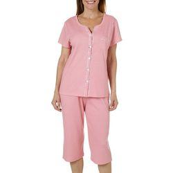 Karen Neuburger Womens Polka Dot Capris Pajama Set