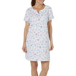 Karen Neuburger Womens Butterfly Short Sleeve Nightgown
