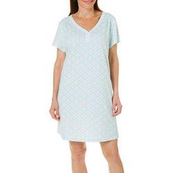 Karen Neuburger Womens Diamond Short Sleeve Nightgown