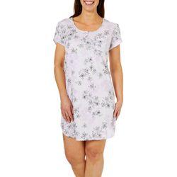 Karen Neuburger Womens Floral Pocket Nightgown