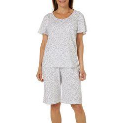 Karen Neuburger Womens Floral Bermuda Shorts Pajama Set