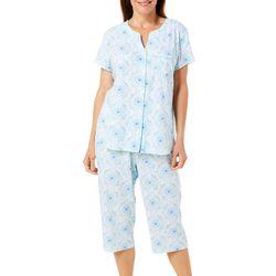 Karen Neuburger Womens Tile Print Capris Pajama Set