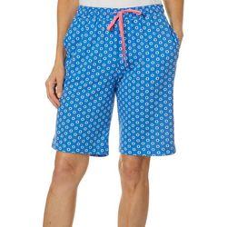 Karen Neuburger Womens Medallion Pajama Bermuda Shorts