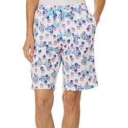 Karen Neuburger Womens Bicycle Pajama Bermuda Shorts