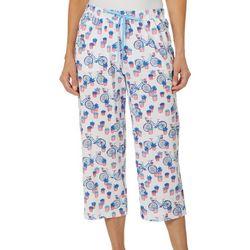 Karen Neuburger Womens Bicycle Capri Pajama Pants
