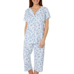 Karen Neuburger Womens Toile Print Capri Pajama Set