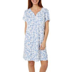 Karen Neuburger Womens Toile Print Short Sleeve Nightgown