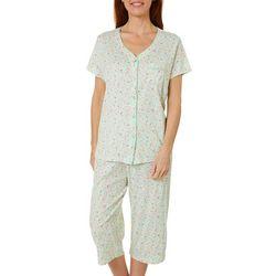 Karen Neuburger Womens Ditsy Floral Print Capri Pajama Set