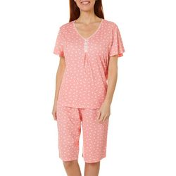 Women Butterfly  Bermuda Pajama Shorts Set