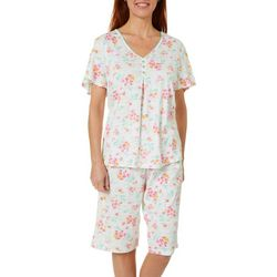 Women Floral Bermuda Pajama Shorts Set