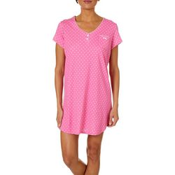 Karen Neuburger Womens Flower Print Short Sleeve Nightgown