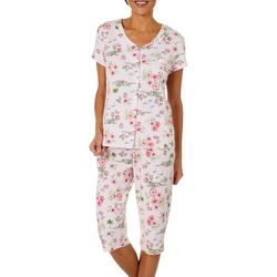 Karen Neuburger Womens Tropical Island Capri Pajama Set