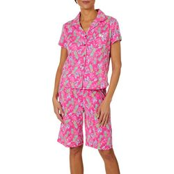 Karen Neuburger Womens Pineapple Print Bermuda Pajama Set