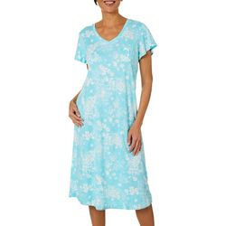 Karen Neuburger Womens Floral Pocket Nightgown