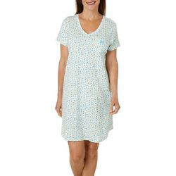 Karen Neuburger Womens Ditsy Floral V-Neck Nightgown
