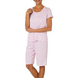 Karen Neuburger Womens Floral Print Bermuda Pajama Set