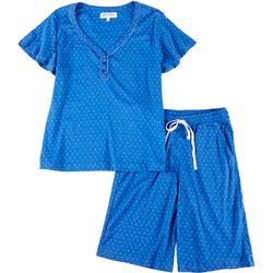 Karen Neuburger Encore Womens Polka Dot Pajama Shorts