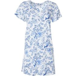 Womens China Floral Short Sleeve Nightgown