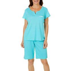 Karen Neuburger Women Polka Dot Bermuda Pajama Shorts Set