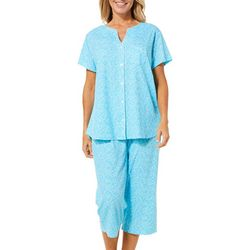 Karen Neuburger Womens Ditsy Floral Pocket Capris Pajama Set