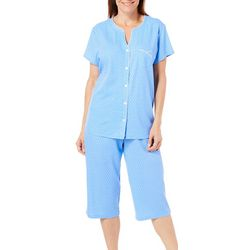 Karen Neuburger Womens Dot Cardigan Pajama Set