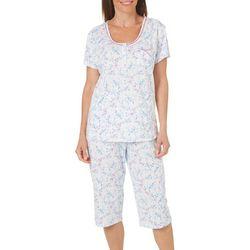 Karen Neuburger Womens Free Bird Floral Henley Pajama Set