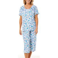 Karen Neuburger Womens Floral Print Capris Pajama Set