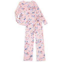 Karen Neuburger Womens Floral Print Pajamas Set