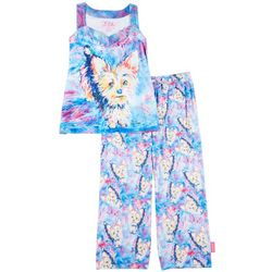 Leoma Lovegrove Womens 2-Pc. Mad Dog Pajama Set