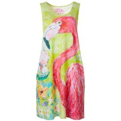 Womens Flamingo Tank Nightgown