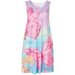 Womens Butterfly Tank Dress