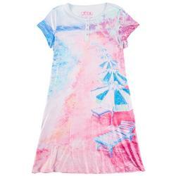 Womens Lido Beach Short Sleeve Nightgown
