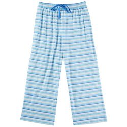Goodnight Kiss Womens Striped Pajama Capris