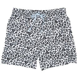 Goodnight Kiss Womens Snow Leopard Pajama Boxer Shorts