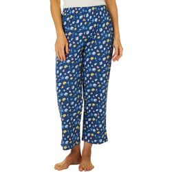 Coral Bay Womens Seashell Print Capri Pajama Pants