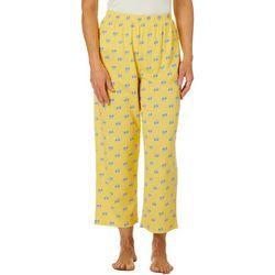 Coral Bay Womens Flip Flop Capri Pajama Pants