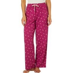 Coral Bay Womens Flamingo Print Pajama Pants