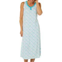 Coral Bay Womens Starfish Sleeveless Maxi Nightgown