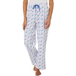 Coral Bay Womens Sailboat Print Pajama Pants