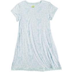 Womens Abstract Print Crewneck Sleep Shirt