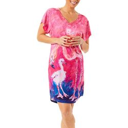 Leoma Lovegrove Womens Training Wings Short Sleeve Nightgown