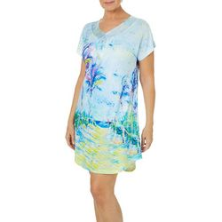 Leoma Lovegrove Womens Solo Short Sleeve Nightgown