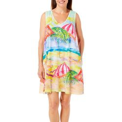 Leoma Lovegrove Womens Gotcha Covered Tank Nightgown