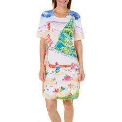 Ellen Negley Womens Santa Stroll Nightgown